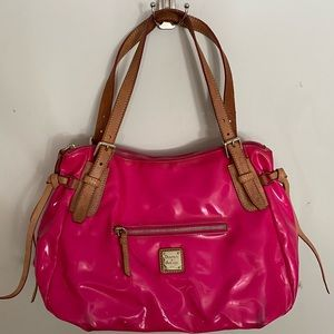 Neon Pink Patent Leather Tote